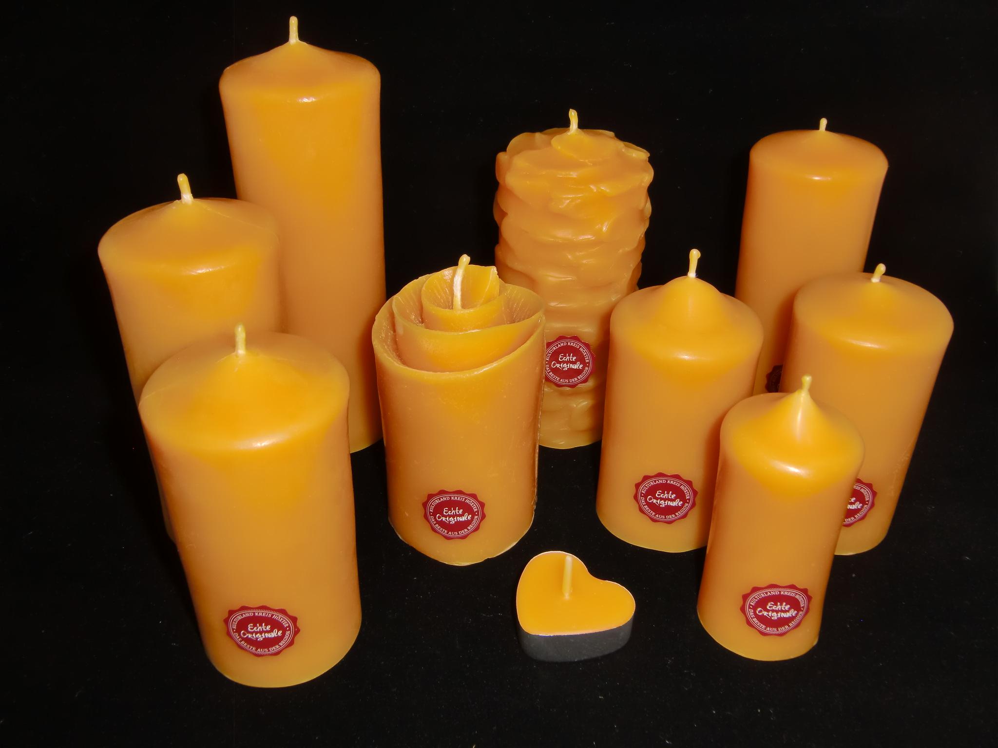 Deko-Kerzen & -Teelichter Bienenwachskerze Bienenstock 6,5 cm x 7 cm aus reinen Bienenwachs  170g Innenraum-Dekorationen